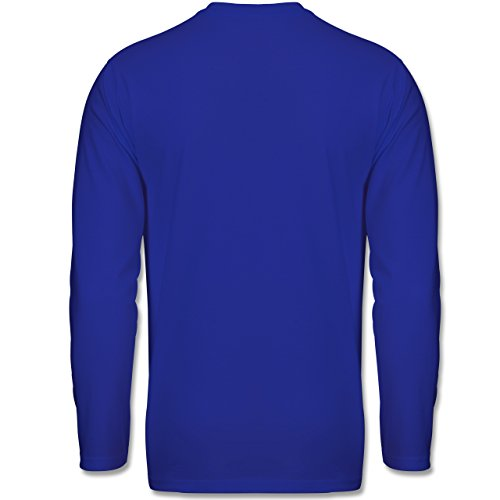 Shirtracer Handball - Burning Ball - Herren Langarmshirt Royalblau