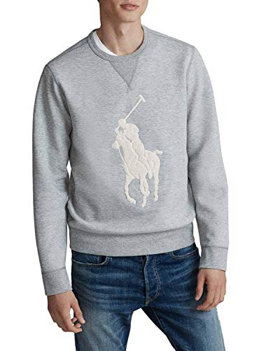 Ralph Lauren Big Pony Sweatshirt für Herren, Grau, Grau X-Large