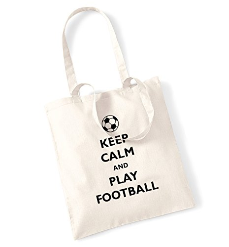 """Keep calm and play football-Borsa natur"