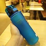 jxcssmqq Bambini Che bevono Resistenza Goccia d'Acqua a Perfetta Tenuta del Bambino Tazza Portatile di plastica della Tazza Bottiglia di Sport 3026 Blu 500 ml
