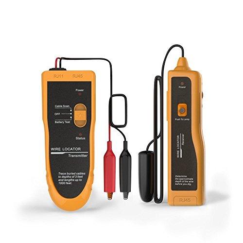 kolsol F02Underground Kabel Draht Locator Tracker LAN mit Kopfhörer einfach Drähte und Kabel Pet Zaun Metall Telefon Draht Koax-Kabel - Wire Locator