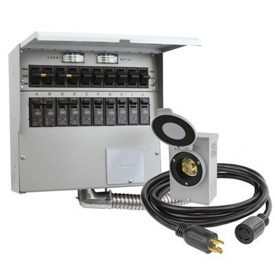 Reliance Controls 310CRK 10 Circuit Transfer Switch Kit by Reliance Products - Circuit Transfer Switch
