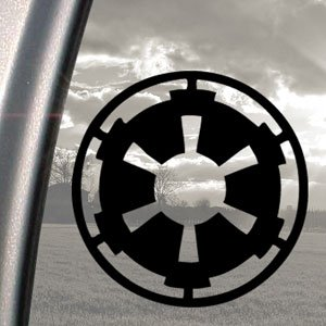 Star Wars Black Decal Galactic Empire Truck Window