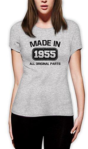 60. Geburtstag Geschenk machte in 1955 Frauen T-Shirt Grau