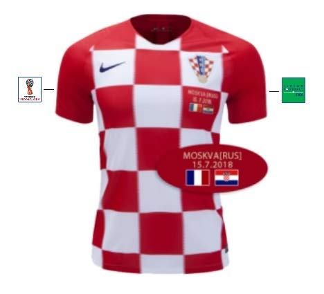 Kroatien Trikot Herren WM Finale 2018 Home (XXL)