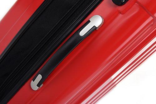 BEIBYE Zwillingsrollen 2048 Hartschale Trolley Koffer Reisekoffer in M-L-XL-Set in 17 Farben CHILIROT