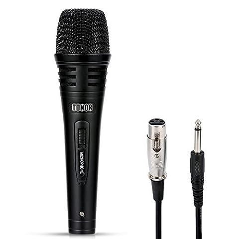 TONOR Microphone Dynamique Professionnel avec 298.7cm Cordon pour DVD/Télévision/KTV Audio/Réflecteur/Mélangeoir/Autobus de Tourisme