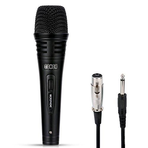 Tonor Dynamischer Mikrofon mit 9,8 Ft. Kabel für DVD/Fernsehen/KTV Audio/Reverberator/Mixer/Tourbus