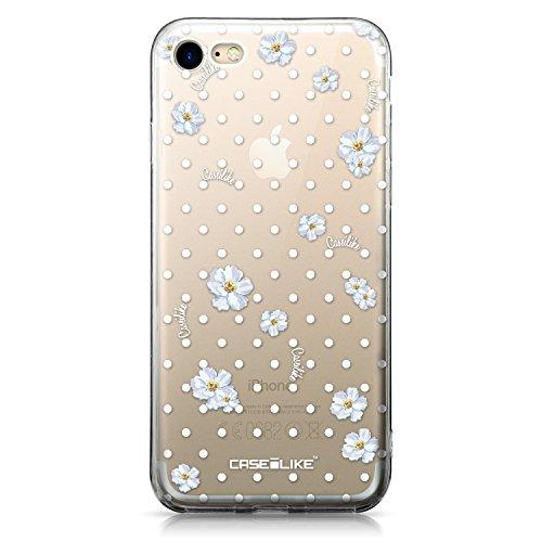 CASEiLIKE iPhone 7 Hülle, iPhone 7 TPU Schutzhülle Tasche Case Cover, Comic Beschriftung 2914, Kratzfest Weich Flexibel Silikon für Apple iPhone 7 Acquerello Floreale 2235