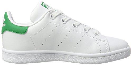 adidas Stan Smith, Scarpe Basse Unisex – bambini Bianco (Footwear White/footwear White/green)
