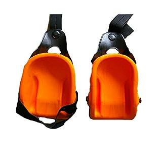 Knieschoner Schalenform Orange Knieschutz Paar mit Ergo Fix