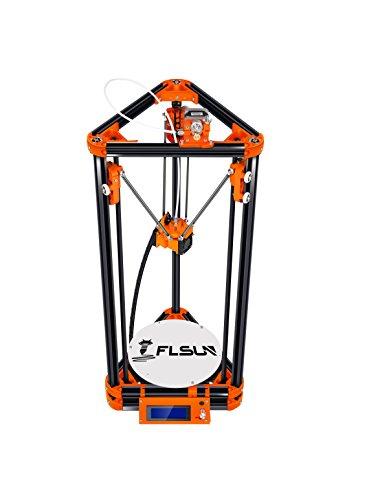 FLSUN Imprimante 3D Delta Kossel Diy Kit avec grande taille d'impression 3D Mise à jour du système Nuzzle Mise à niveau automatique du lit chauffé