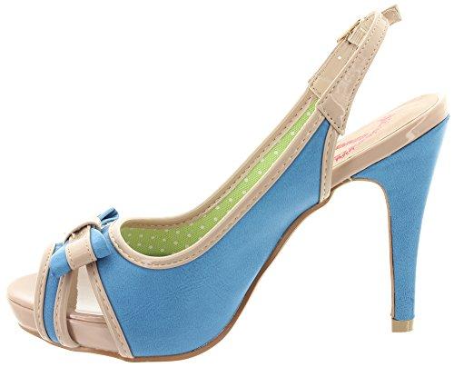 Banned peeptoe haute stabilité mARY-lOU bND009 blue Bleu - Bleu