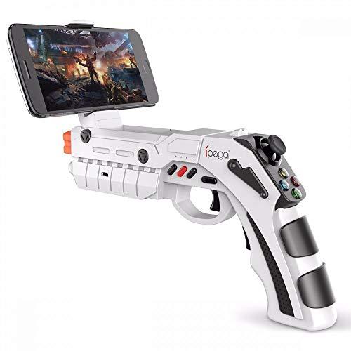 5a6cabab6d13 Trade Shop Traesio Pistola Wireless Bluetooth Game Gun Ar Gamepad Ios  Android Ipega Pg-9082