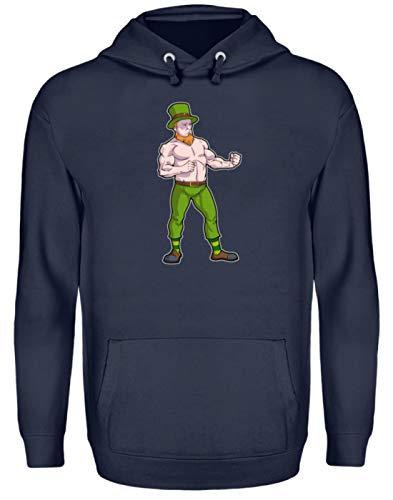 St. Patricks Day Shirt Irisch-er Boxer Leprechaun Bier Day Kobold Kostüm Grün Geschenk - Unisex Kapuzenpullover Hoodie -XXL-Oxford Navy