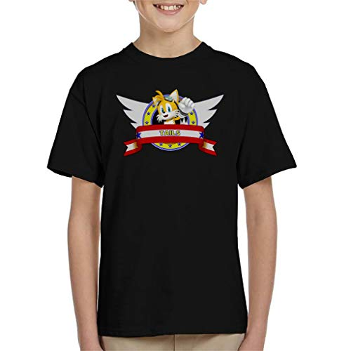 Sonic The Hedgehog Tails Banner Kid's T-Shirt (Hedgehog Sonic Tails)