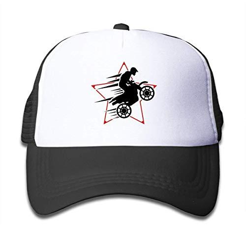 angwenkuanku Kausale Motocross Sun Mesh Baseball Caps Kleinkind Schutz Hüte Unisex schwarz wunderschöne 26398