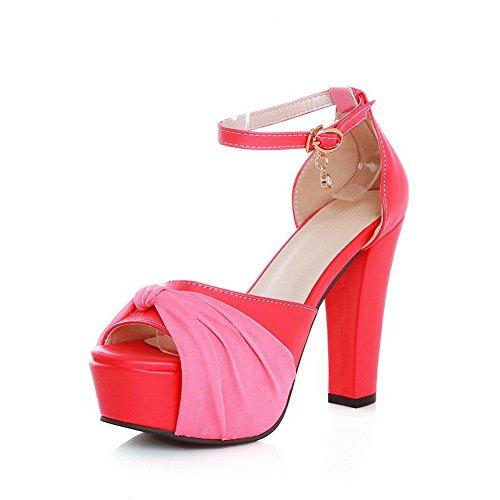 Rosa Strass In Vestito Materiale Con Fibbie Sandali Balamasa Signore Metallo Flessibile qxZfS6wv
