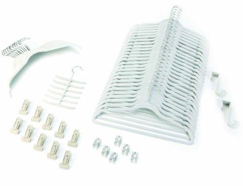 Organisations-Set 57 Teile Farbe LEINEN / Raumspar Magic Kleiderbügel Smart