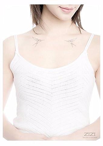 ZiZi Designer Papier Autocollant Maquillage Tattoo Art Corporel 3d à La Mode Des Tatouages Temporaires étanches,2 pcs,00224,2