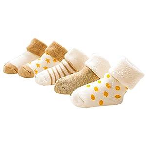 5 Paar Babys Winter Socken Weiche dicke Socken Winter warme Socken Winter Zubehör #90