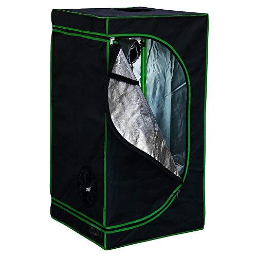 Melko Growbox 40x40x160 cm Growschrank Oxford 600D Growzelt Zuchtschrank für Homegrowing Pflanzenzucht Gewächshaus, Lichtdicht und Wasserdicht