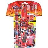 Majik Stationary Items Combo, Kids School Accessories, Pencil Box, Sharpener, Eraser, Birthday Return Gifts For Kids, 30 Gram, Pack Of 1 (Red-Boys)
