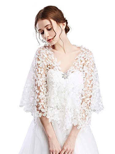 FXmimior - Chal encaje novia dama honor, boda, fiesta
