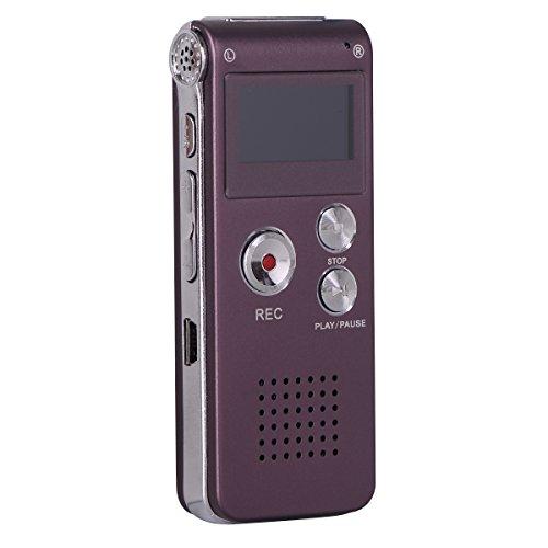 NBWS - Digitales Diktiergerät, 8GB Diktierapparat Tonaufnahmegerät HD Audiorekorder, MP3-Player, Wiederholfunktion Aufnahmegerät für Vorlesungen Meetings, Interviews, Unterricht