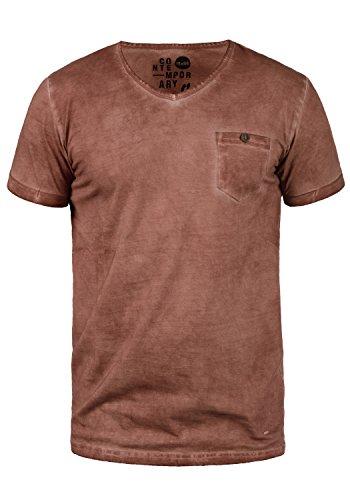 !Solid Tinny Herren T-Shirt Kurzarm Shirt Mit V-Ausschnitt Aus 100{c5c538108d4087761da41b7d27b8e33c3ad9ee8e3a6048ef5a832cf9d2933ad7} Baumwolle, Größe:M, Farbe:Fox Brown (6792)