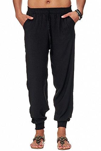 ellebasi24 GmbH Damen Sommerhose einfarbig schwarz (XL/XXL, Schwarz)