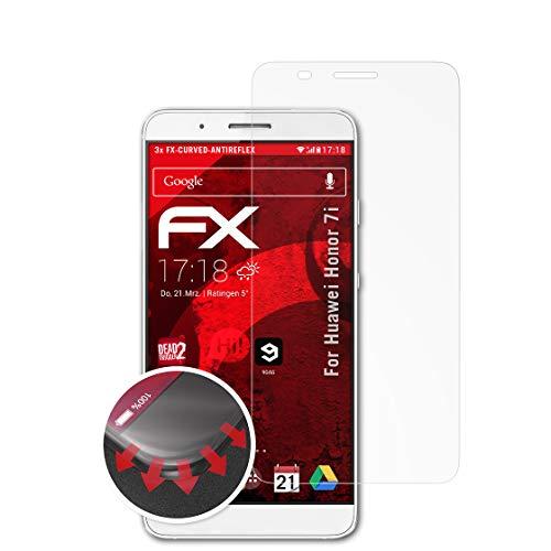 atFolix Schutzfolie passend für Huawei Honor 7i / ShotX Folie, entspiegelnde & Flexible FX Bildschirmschutzfolie (3X)