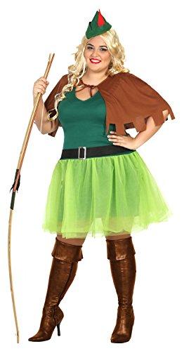 Atosa 31489 - Bogenschützin, Damenkostüm, Größe XXL, 44/46 (Robin Superheld Kostüm Hund)