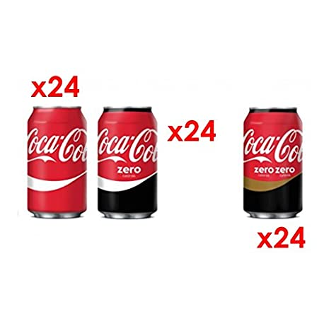 MEGAPACK CocaCola 72 Latas 24x Cocacola 24x CocaCola Zero 24x Cocacola ZeroZero Total de 72Latas de 33cl 23 76 Litros IN