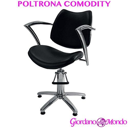 Poltrona parrucchiere sedia comodity professionale per barbiere