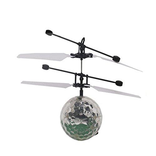 RC fliegender Ball mit LED Leuchtung Disco Musik Spielzeug RC Infrarot Induktionshubschrauber Ball für Kids - 2