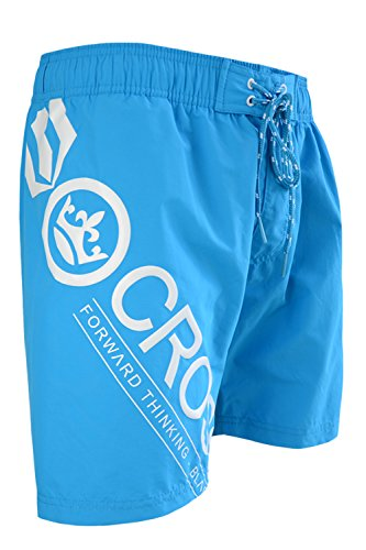Crosshatch Pacific Mens Swim Shorts - Hawaiian Ocean - Medium