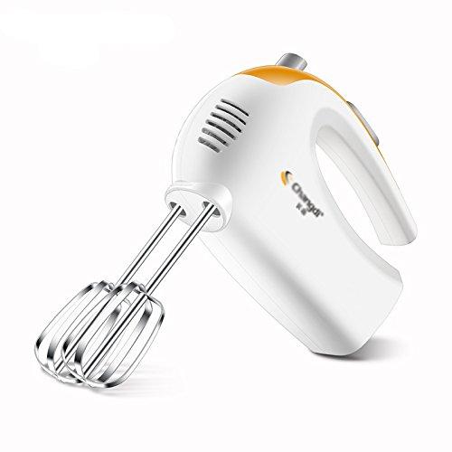 LXS Batidor Casero Eléctrico Que Cuece Al Horno Mini Mano Automático Batidora Crema Mezclador Suministros de Cocina,Blanco,Un regalo de Navidad