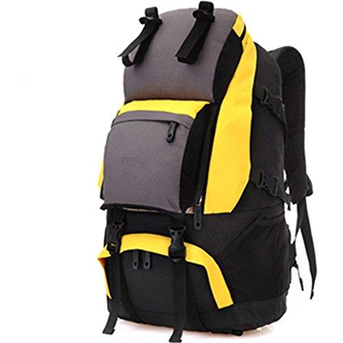 Outdoor-RucksackmännlicheundweiblicheBergsteigenTascheSchultertascheReisenWandernTaschewasserdichtbackpack,green(40L) yellow(60L)