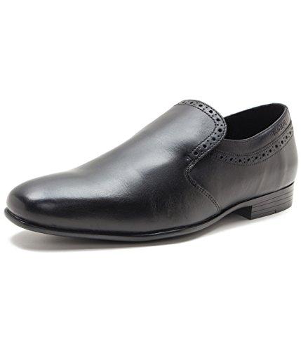 Red Tape Men's Black Leather Shoes - 9 UK/India (43 EU)