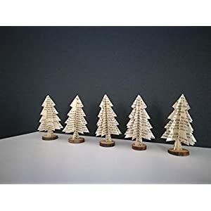 """5er-Set Deko""""kleiner Tannenbaum"""" aus Buchseiten/Tischdeko/ Weihnachtsdeko/Christbaum/Weihnachtsbaum"""