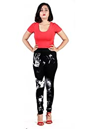 Howdy Black Legging With Smoky Graphic Print - B0753B6192