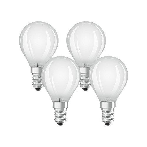 Osram LED-Lampe | Sockel E14 |Warm White (2700 K) | ersetzt Glühlampen mit 40 W | 4,00 W | Matt | LED Retrofit CLASSIC P - Ge Halogen-leuchten