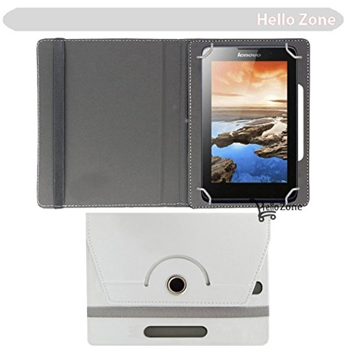 "Hello Zone 360° Rotating 7"" Inch Flip Case Cover Book Cover for Swingtel Hello Tab -White  available at amazon for Rs.285"