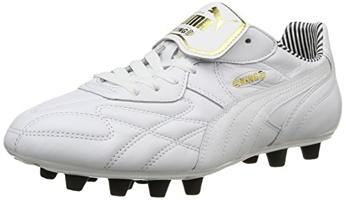 Puma King Top Stripe Di F, Chaussures de football homme Blanc (White/White/New Navy)