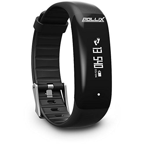 POLLIX PRO: Fitness Activity Tracker - Pulsuhr mit Herzfrequez – IPX7 Fitness Armband Uhr mit Schrittzähler & Musikstuerung & Push-Benachrichtigung - Smart Watch für iOS & Android