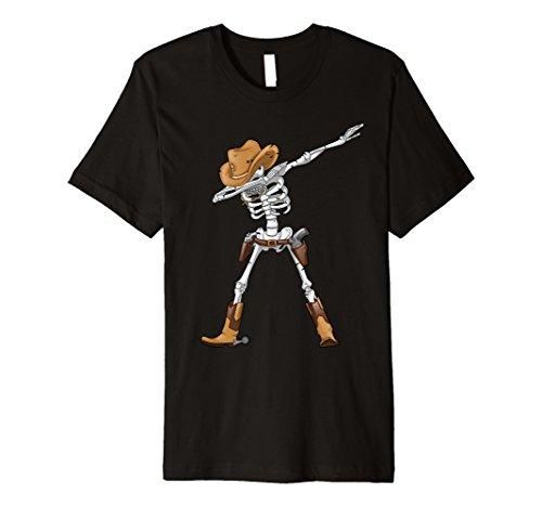 Sanftes Skelett T Shirt Kinder Cowboy Hat Halloween -