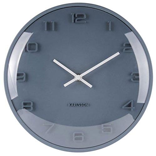 Karlsson Elevated Uhr, Wanduhr, Aluminium, Blau, One Size