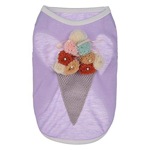 tze Hundekleid Party Kostüm Haustier Prinzessin T-Shirt Kleidung Weste Small Lavendel (Mädchen Lavendel Prinzessin Kostüme)