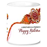 Jikraa Rakhi Gift for Raksha Bandhan, Rakhi Ceramic Coffee Mug,Rakhi Gift for Brother, Birthday Special Gift, Bhaiyadooj Gift Item,A Brother is a Friend Given by Nature Happy Raksha Bandhan Printed